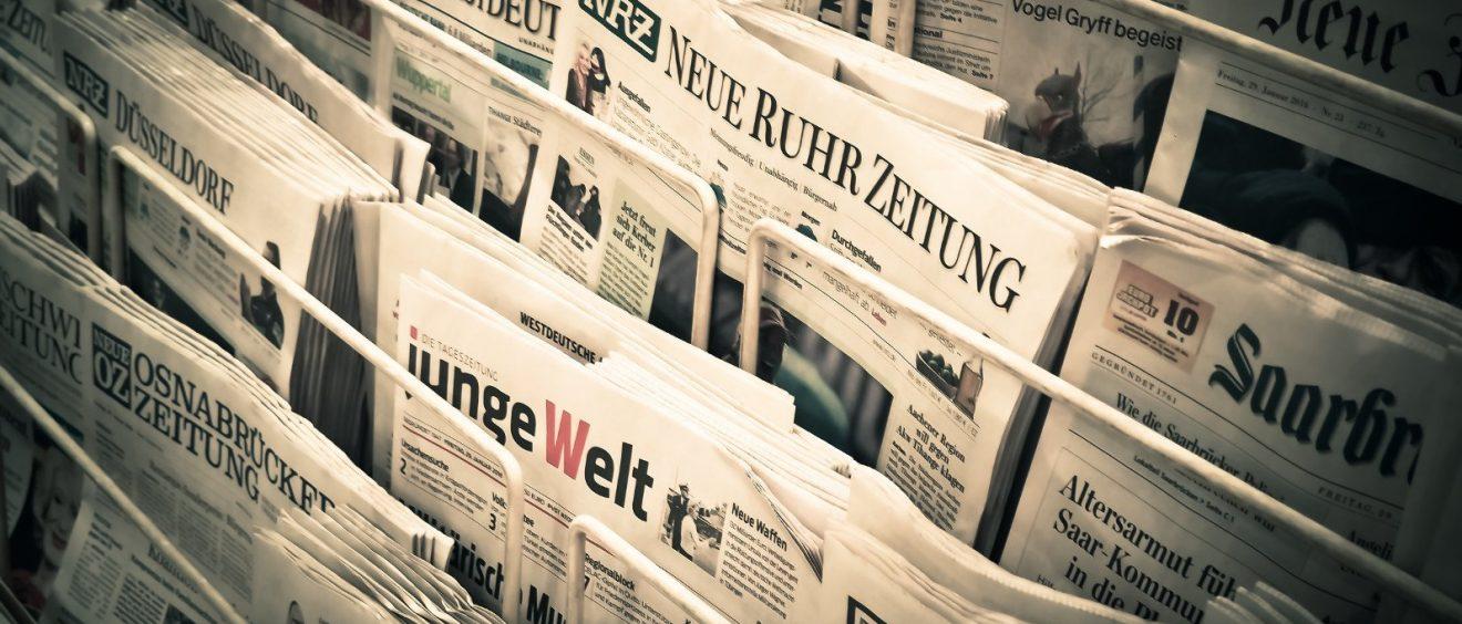 Ziel einer Pressemitteilung: Große Tageszeitungen in Deutschland